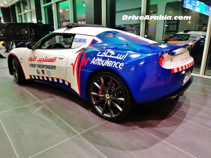 Lotus Evora - новый автомобиль для скорой помощи в Дубае