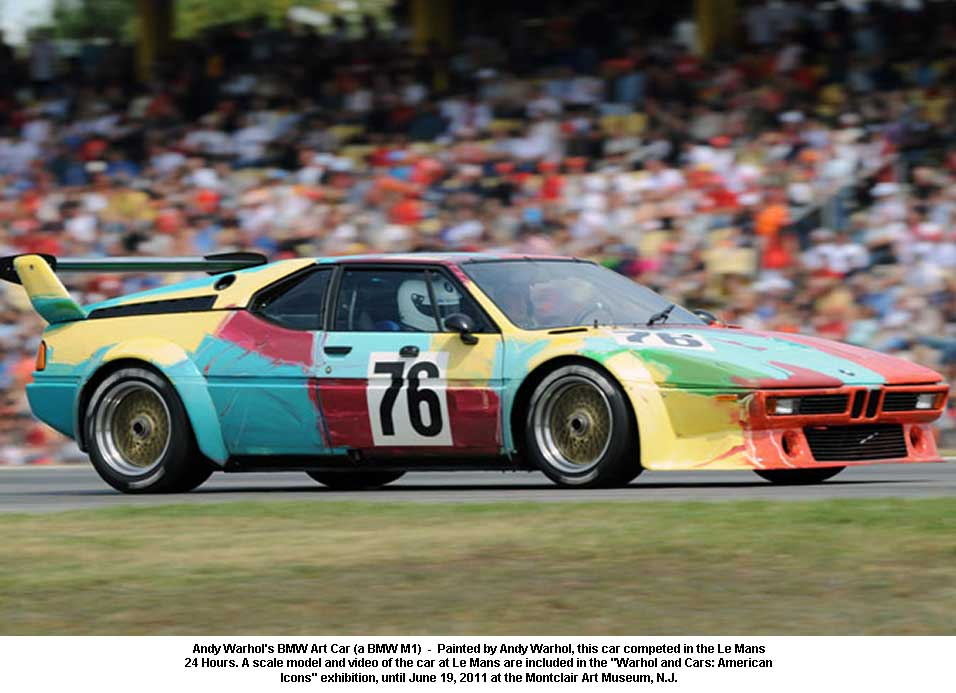 BMW M1 art car at the track