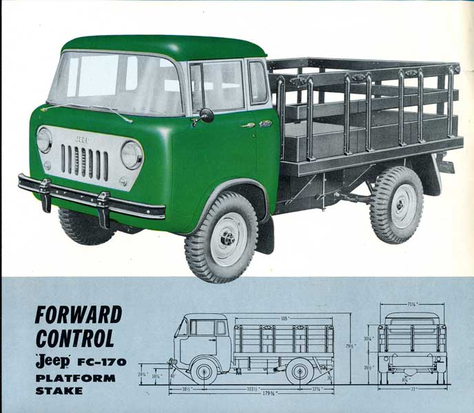 Jeep FC170 1958 года на гусеницах на автошоу SEMA-2014