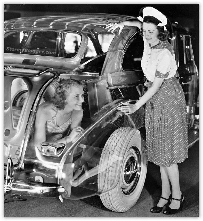 Pontiac Plexiglas Deluxe Six на всемирной выставке в Нью-Йорке 1939 года