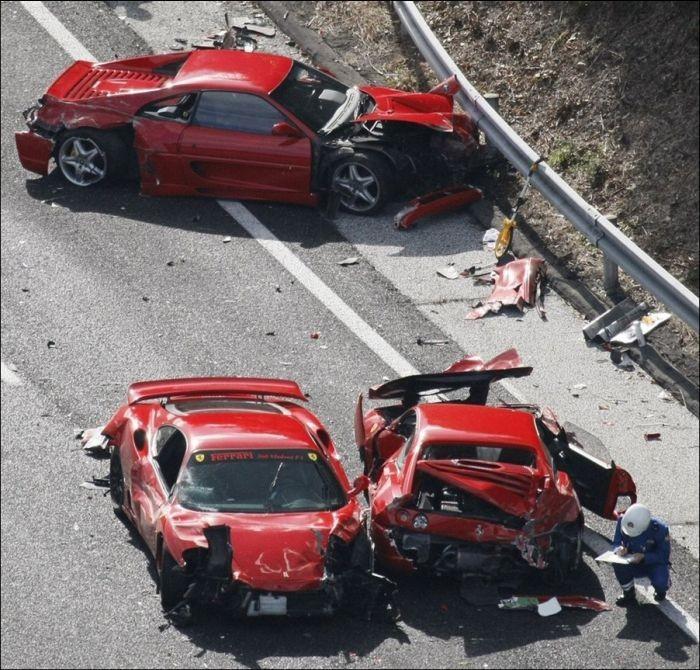 Еще один рекорд: самая крупная авария суперкаров в Японии