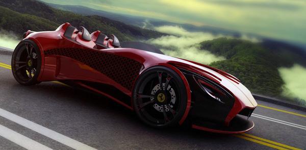Концепт электрической Ferrari Millenio от дизайнера Марка Петровица