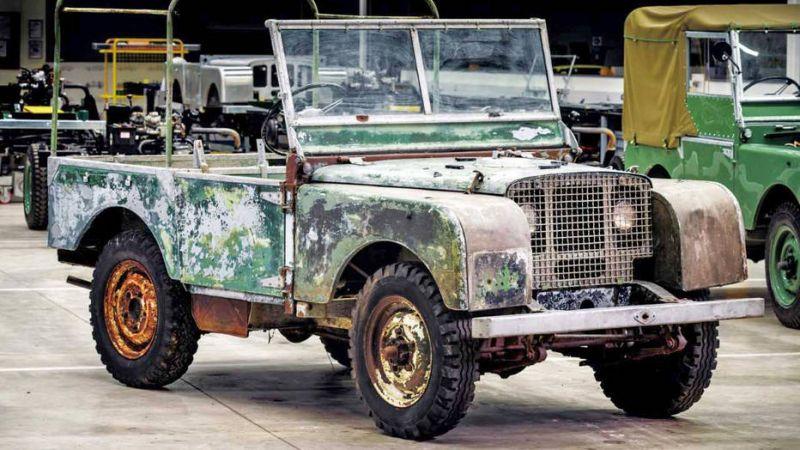 Один из трех первых Land Rover Series I 1948 года найден неподалеку от завода!