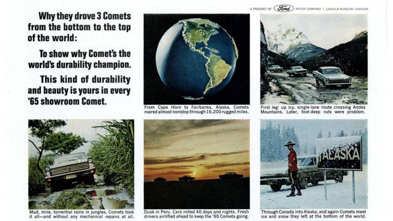 Три Mercury Comet в 1964 году проехали всю Америку от Аргентины до Аляски