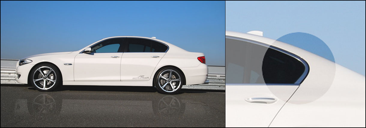 BMW 5 series F10 with the Hofmeister kink