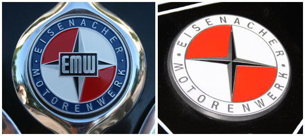 Two logos of EMW