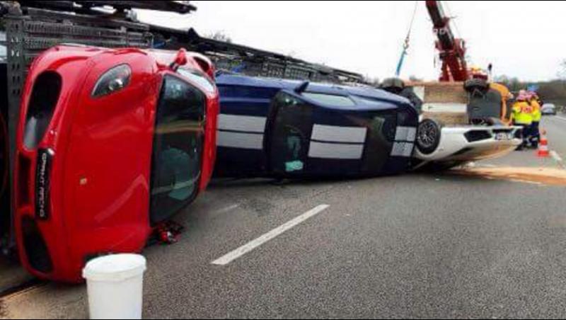 Авария с суперкарами в подПарижье