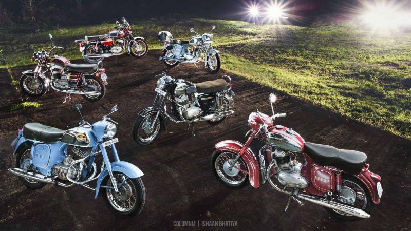 Коллекция мотоциклов Jawa и Yezdi (ребренд Jawa после 1972)
