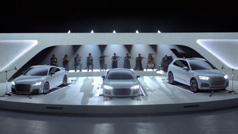 Audi снова стала спонсором Emmy Awards и выкатила по этому поводу перформанс