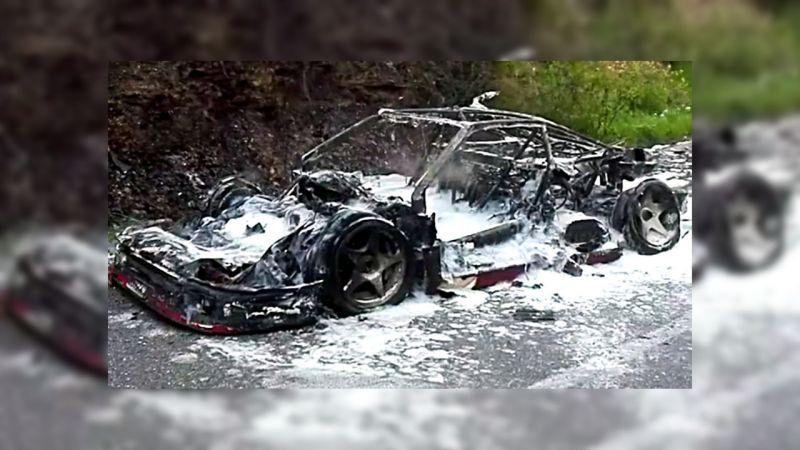 Сгорела дотла редчайшая Ferrari F40 Джона Ханта :(