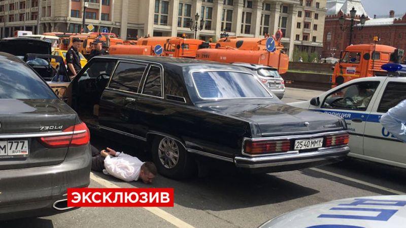Погоня в центре Москвы с участием