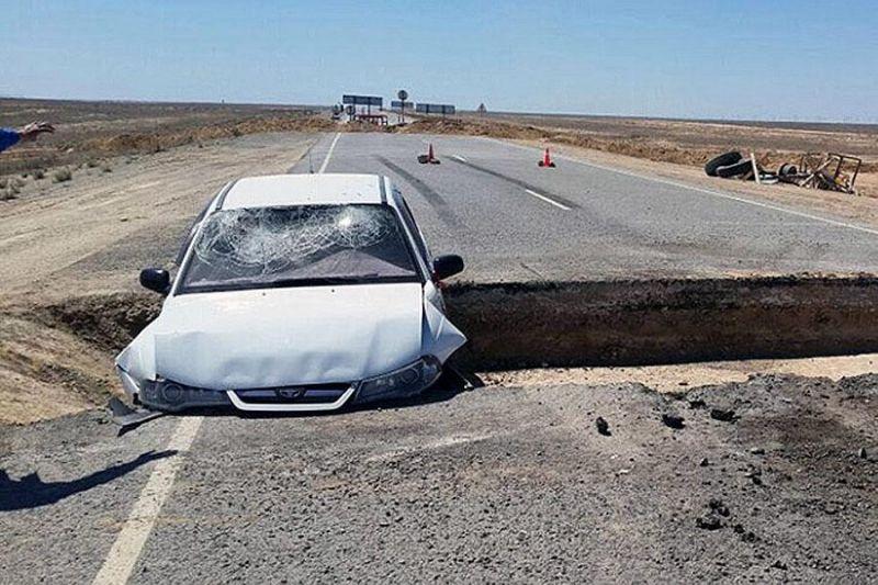 Еще один авто-трюк не удался. На этот раз - в Казахстане и на Daewoo Nexia.