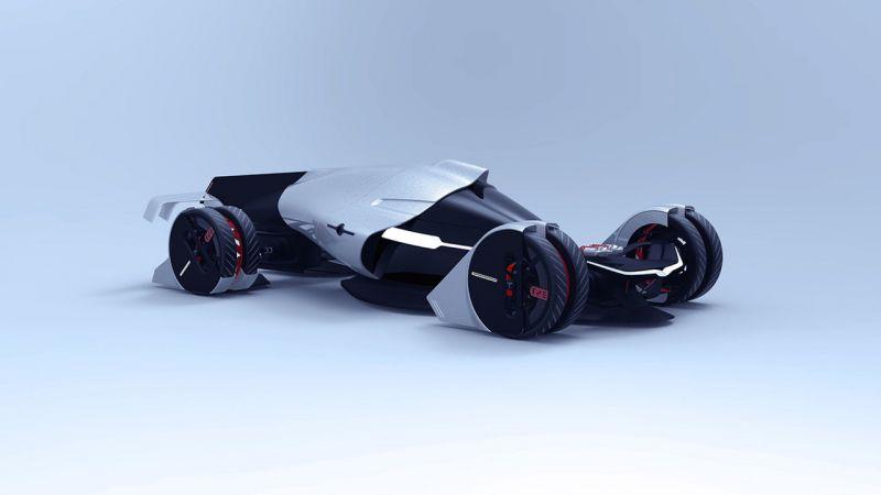 Электроболид Tesla T1 Concept для Le Mans по версии студентов-дизайнеров