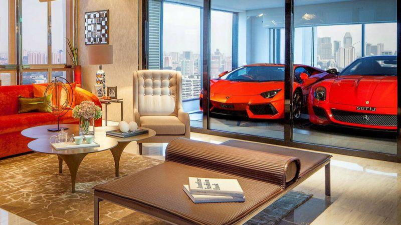 Жилой комплекс в Сингапуре Hamilton Scotts: гараж в квартире
