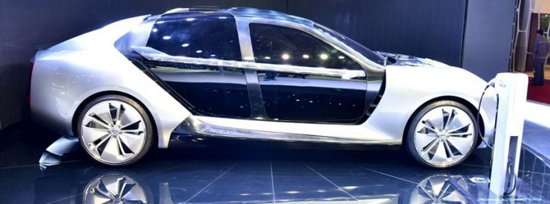 Китайско-Израильский концепт Qoros Model K-EV и его крутые двери