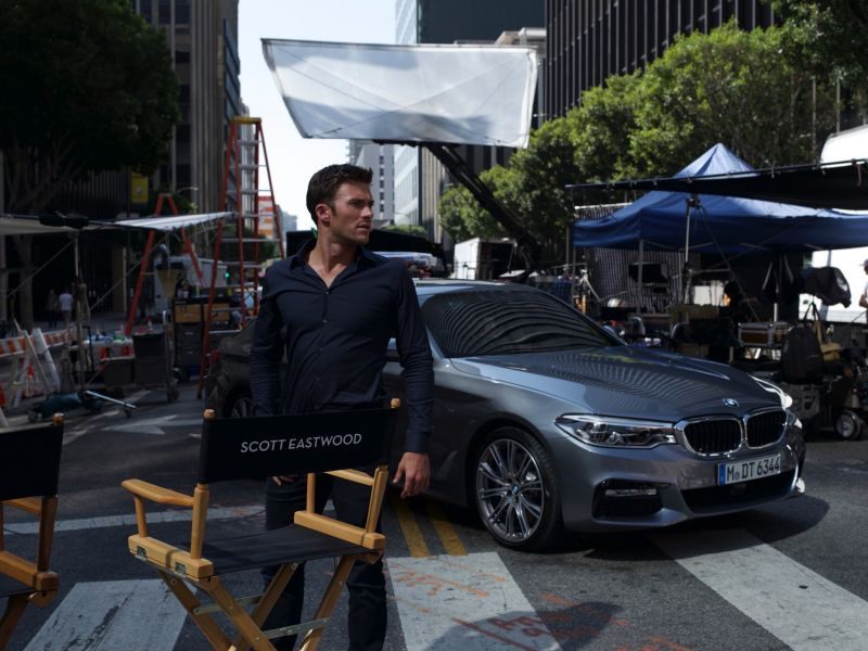 The son of a Clint Eastwood is now official face of BMW 5 series