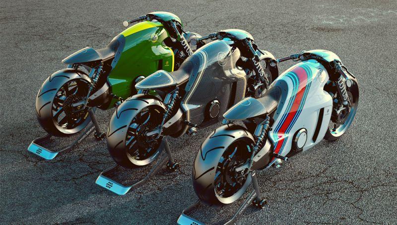 Lotus C-01: футуристичный мотоконцепт от Даниэля Саймона
