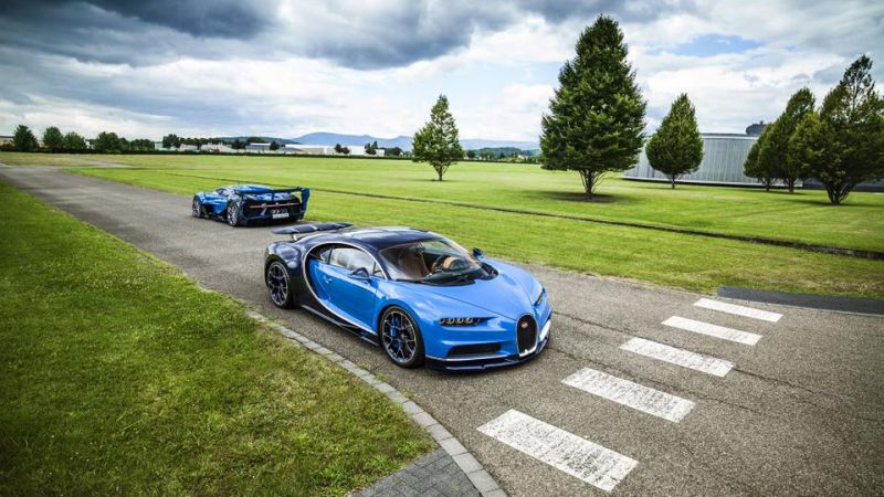 Концепты Bugatti Vision Gran Turismo и Bugatti Chiron теперь в частной коллекции