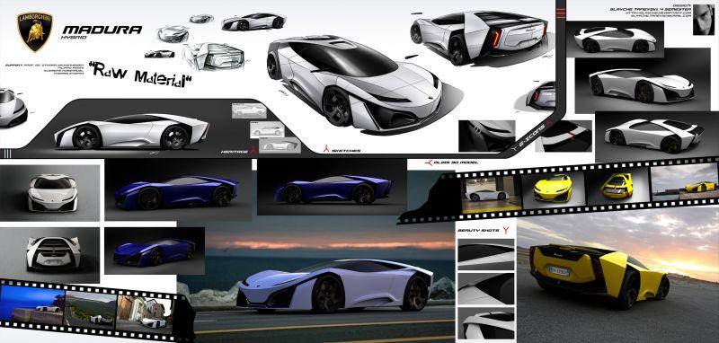 Два концепта Lamborghini от дизайнера Slavche Tanevski