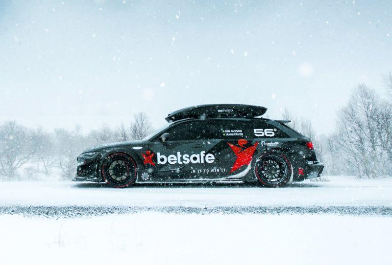 Jon Olsson снял крутое видео о том, как едет по заснеженной дороге на Audi RS6