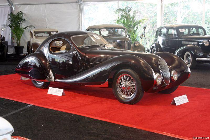 Парижский франт Talbot Lago T150C от Figoni et Falaschi
