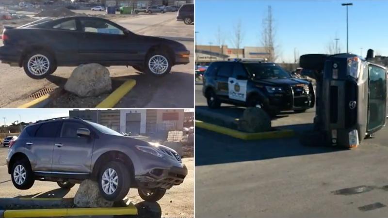 Камень на одной из парковок гнусно унижает канадских водителей