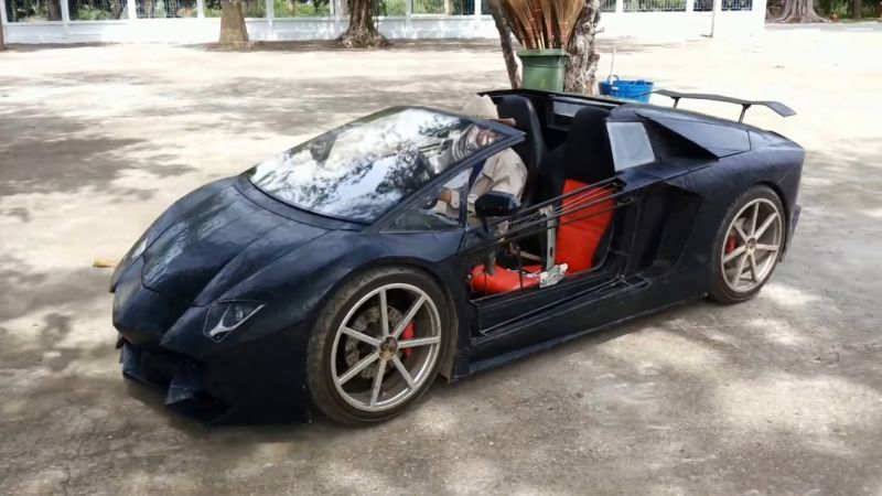 Фермерская Lamborghini Aventador Roadster в масштабе